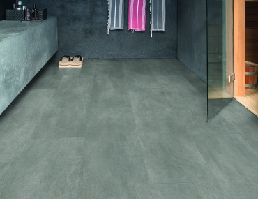 Vinila grīda Quick-Step Ambient click Dark grey concrete AMCL40051